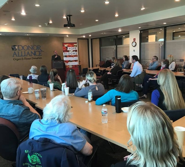 DENVER, CO  - Donor Alliance - 4/19/18