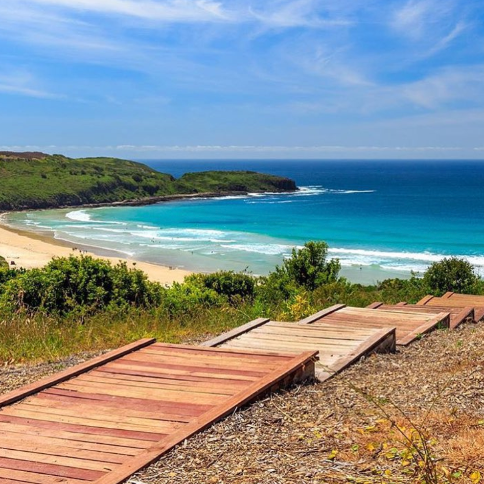 THE FARM   Jump in the car and head north 20 minutes up the road and you will arrive at this magical surfing beach at Killalea Surfing Reserve.