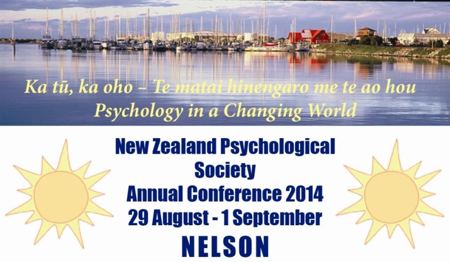 2014 - Presentationat the New Zealand Psychology Society Annual ConferenceNelson, New Zealand