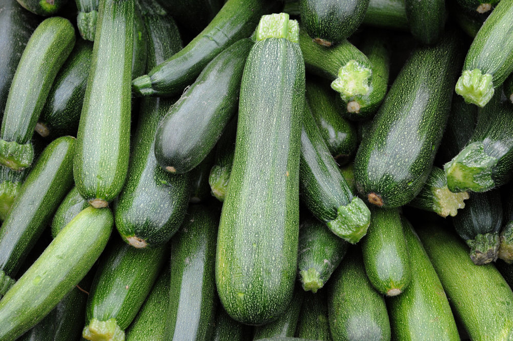 Zucchini SquasH - Mild in flavour. Very versatile.Ideal baked, steamed, boiled, grilled, or stuffed.