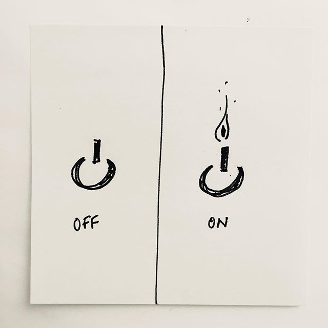 Back to work, turn your screen on again. Thinking to redesign the on/off button made me smile #smallthingsinlife #backtowork #mondayfeels