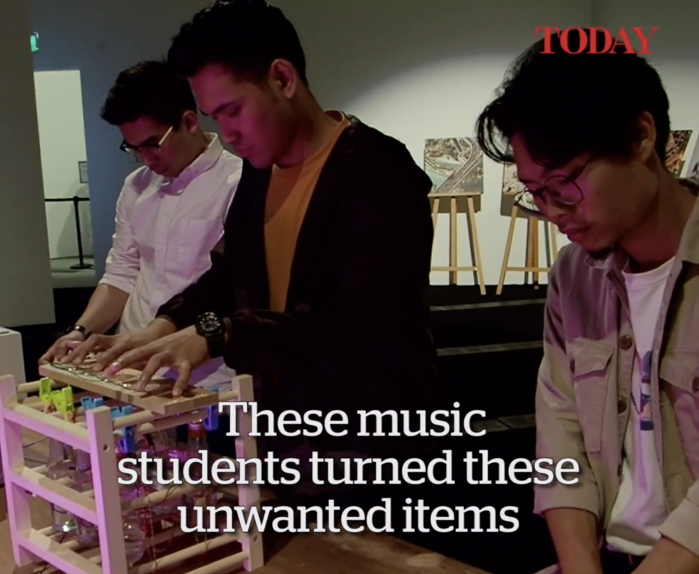 15 Mar - TodayOnline feature on MeshMinds' and the Internet of Things - creating musical instruments from recycled objects. - Read more: https://www.todayonline.com/videos/musical-instruments-everyday-objects-0