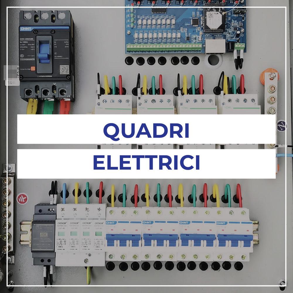 Quadri per la distribuzione dell'energia elettrica, automazione dei processi produttivi -