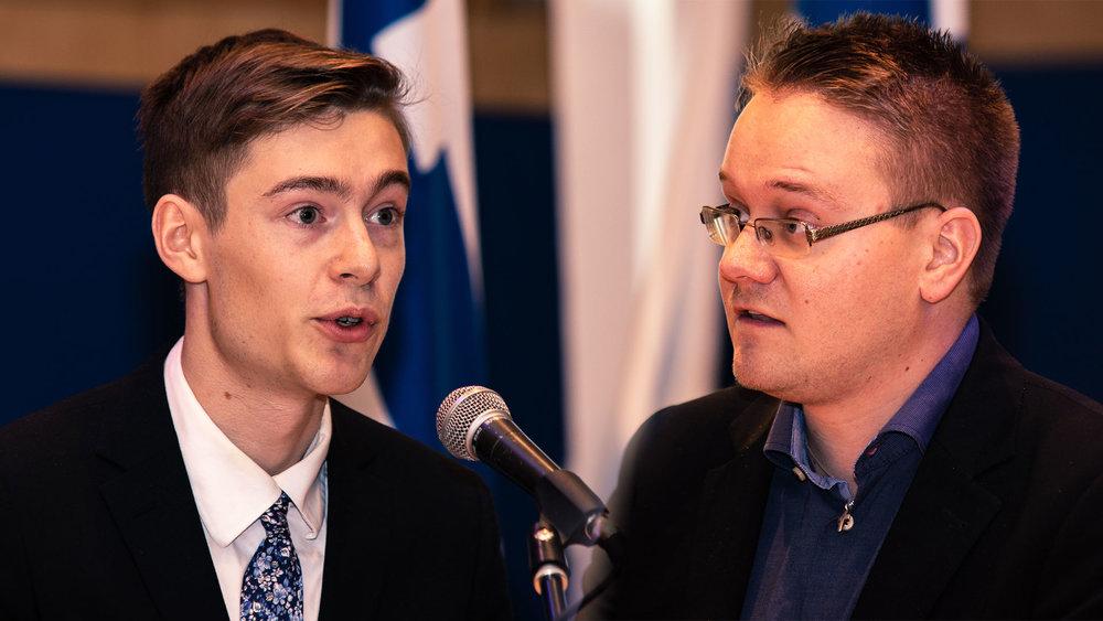 Skribenter: Samuel Dalevi (Vänster) & Carl Olehäll (Höger) Foto:  Simon Berneblad
