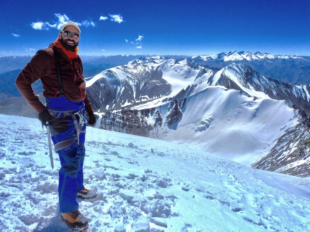 Jamie Ironmonger on Stok Kangri summit in the Indian Himalaya.jpeg