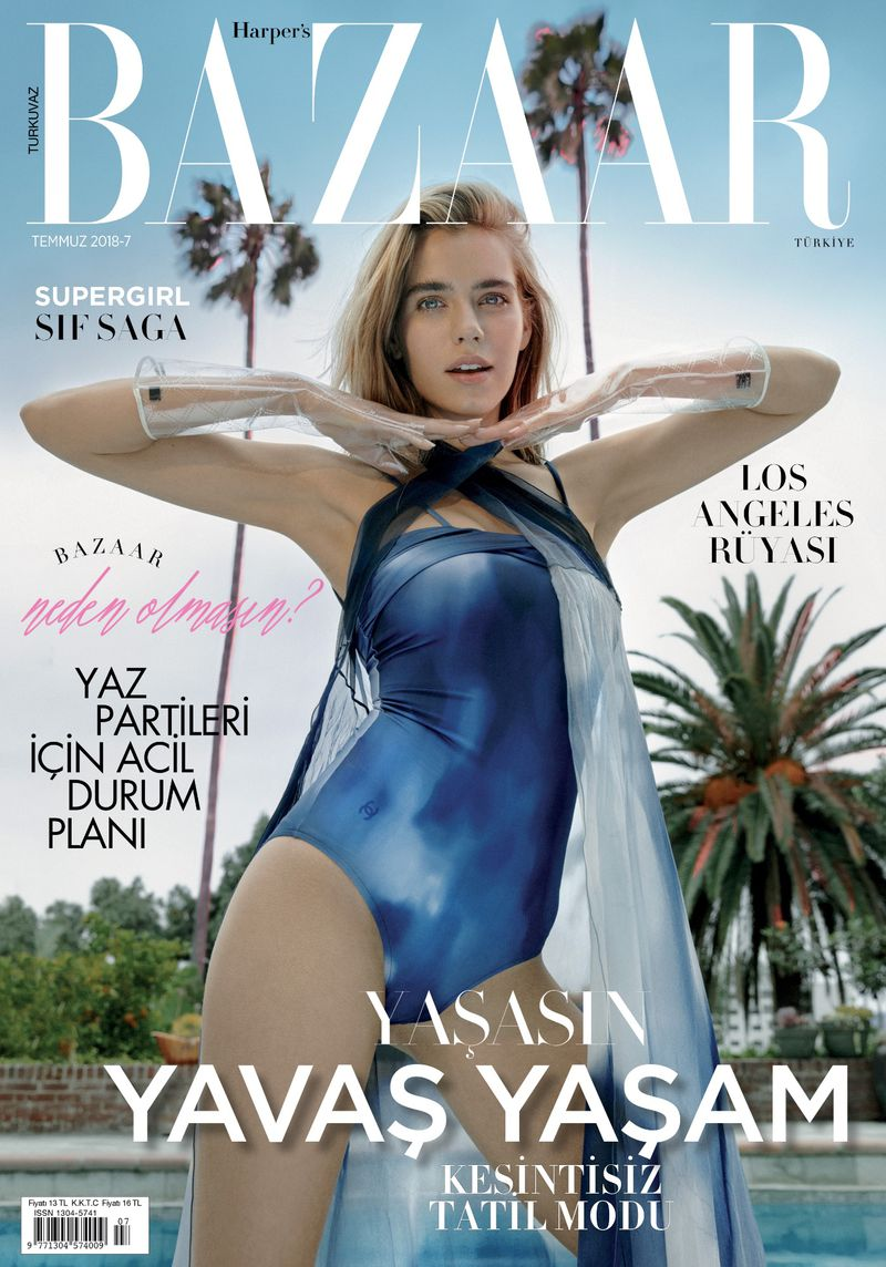 Harper's BazaarTurkey - Sif Saga 2018, July Issue Cover Story