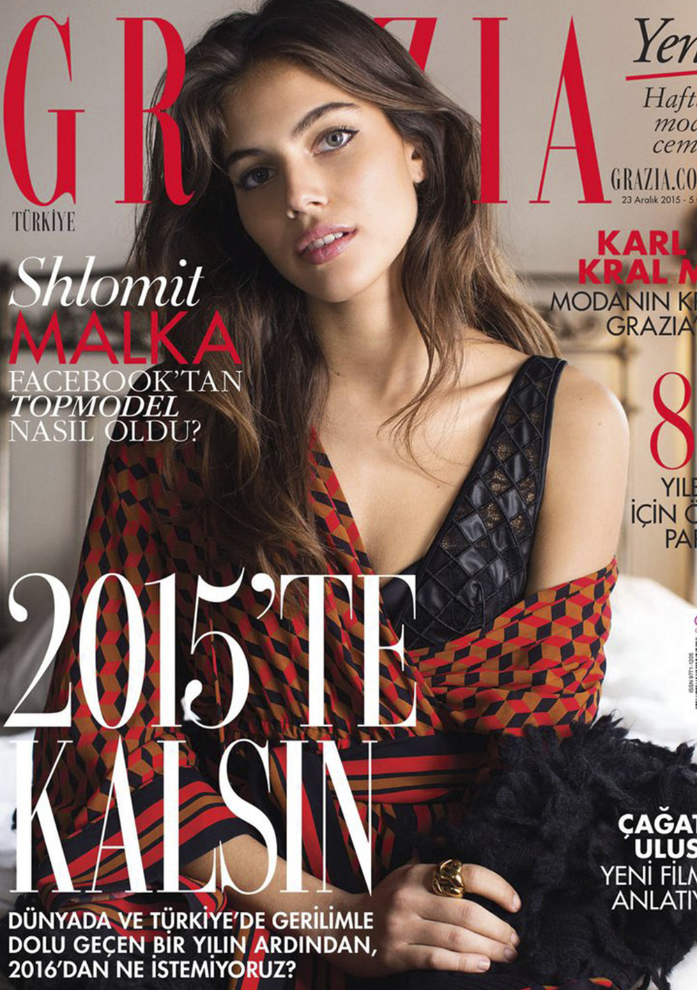 GraziaTurkey - Shlomit Malka 2015, December Issue Cover Story