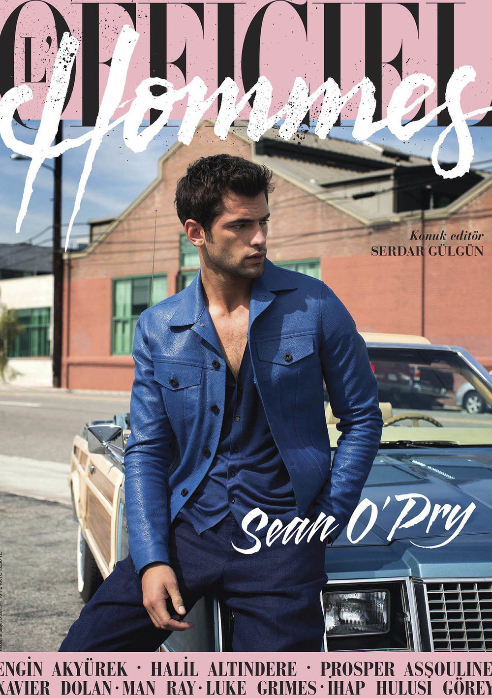 L'officiel HommesTurkey - Sean O'PRY 2015, April Issue Cover Story