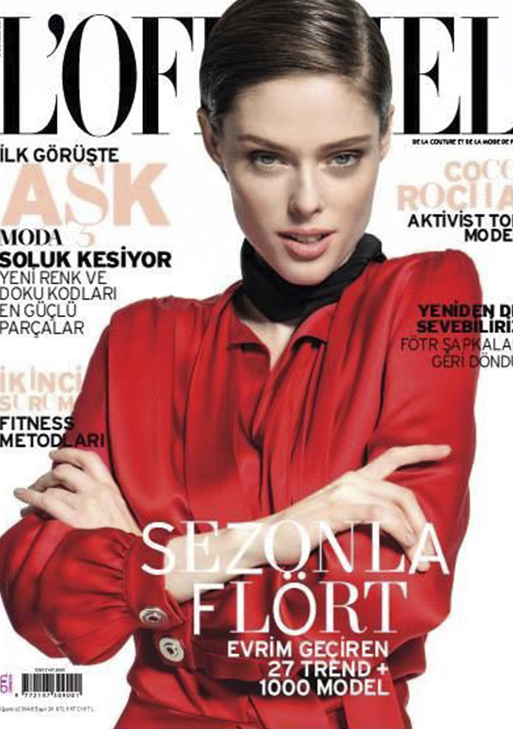 L'officielTurkey - Coco Rocha 2014, August Issue Cover Story