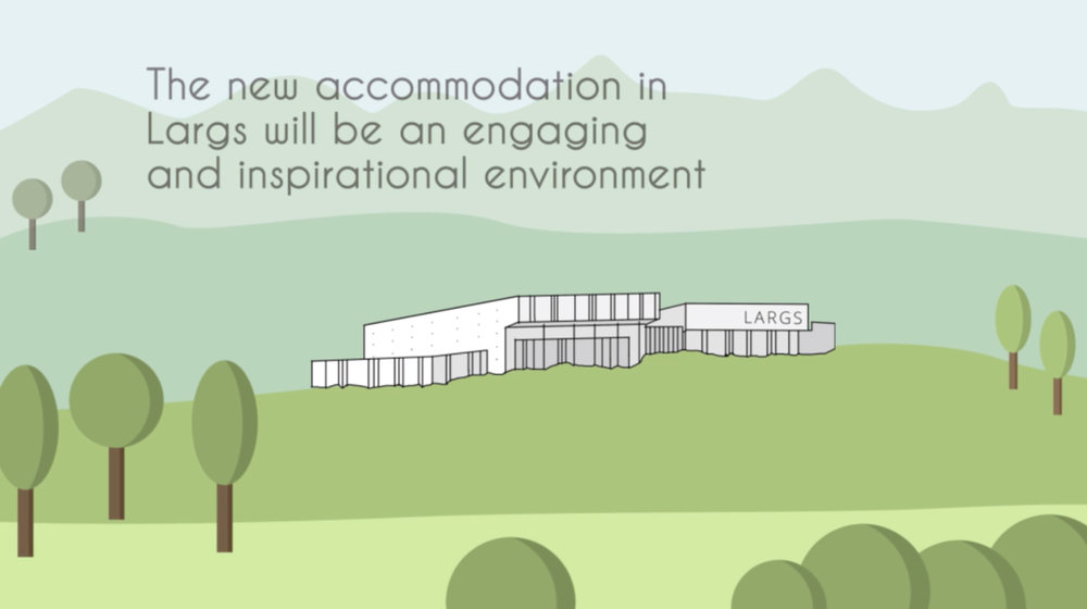 Largs Campus : Animated brief - A short animation was created in 2015 by SPACE strategies to convey key constructs established in the strategic briefing of the new Largs Campus.