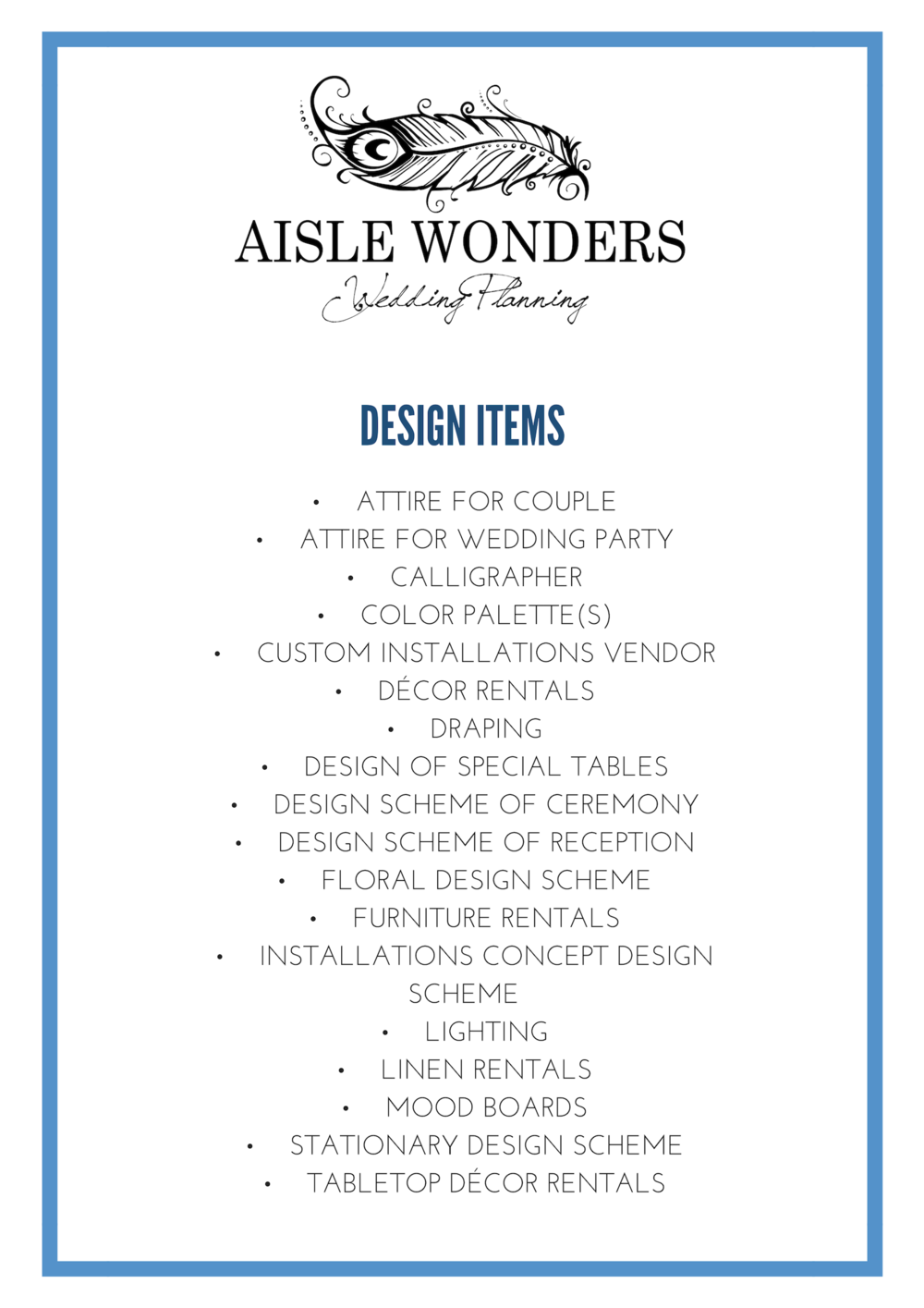 Aisle Wonders, Wedding Planners