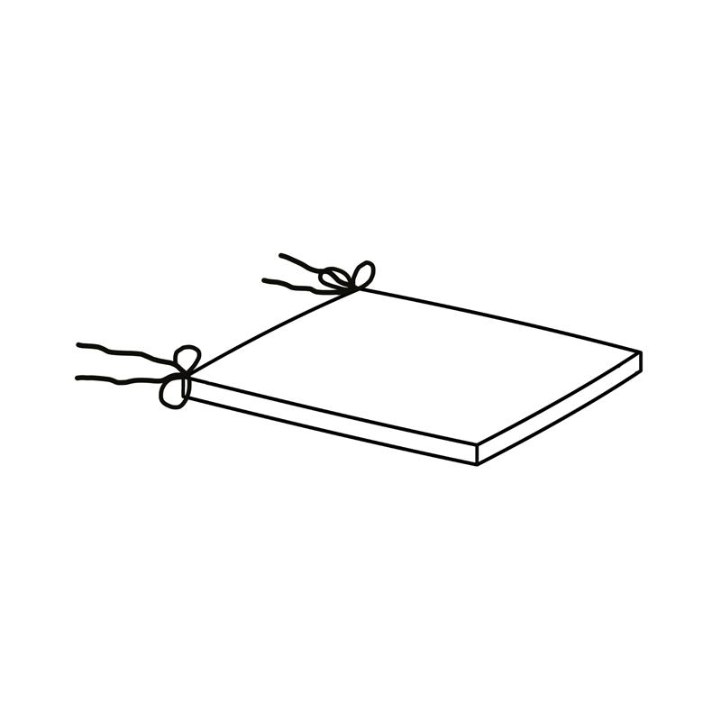 """Sitzkissen Wien   Fertigmaße ca. 40 x 40 x 4 cm  Stehsaum: 2 cm  mit Bindebändern  Schaum Rg """"2830"""" in 3 cm  mit 100g Vließ ummantelt"""