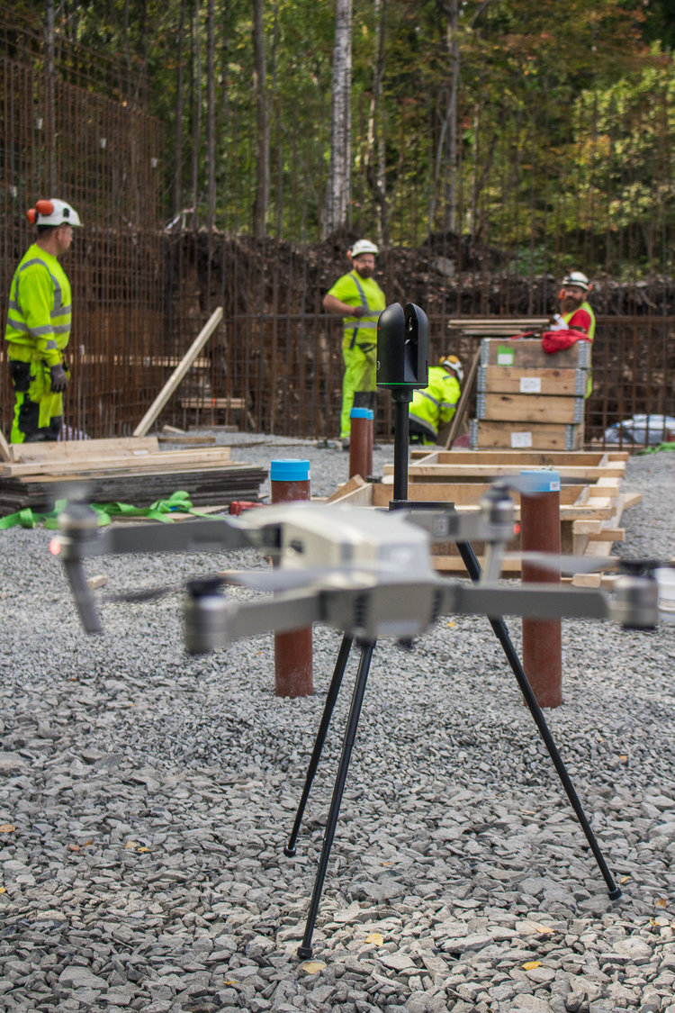 New Tech on-site: Using Leica's BLK360 and DJI drones