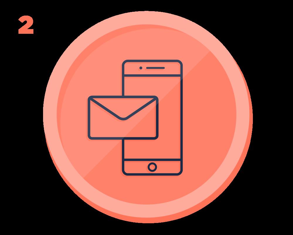 Precheck-in - Du erhältst eine E-Mail, um deine Details vor der Anreise zu hinterlegen