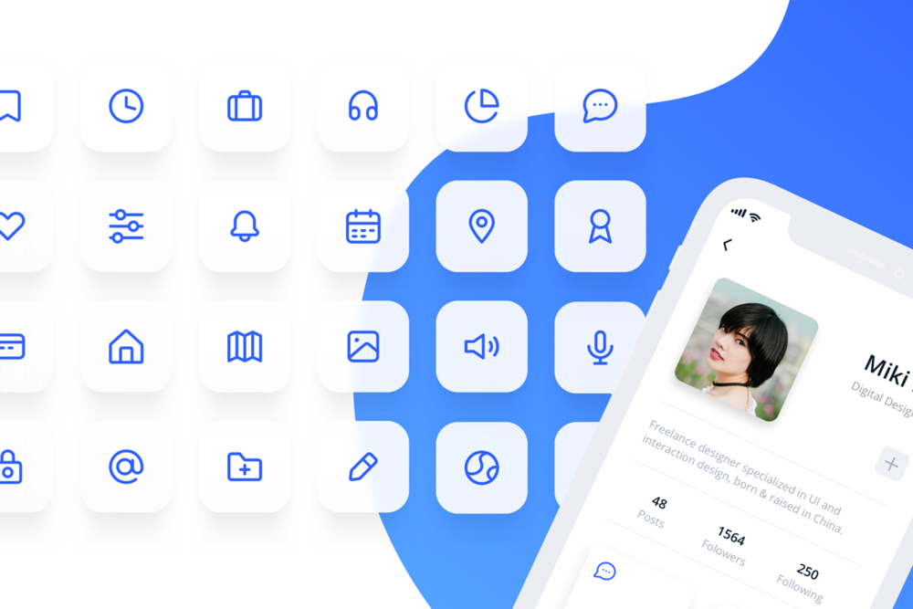 Eva Icons - Eva Icons is a pack of more than 480 beautifully crafted Open Source icons for common actions and items. You can download Eva and use them in your digital products for Web, iOS and Android.