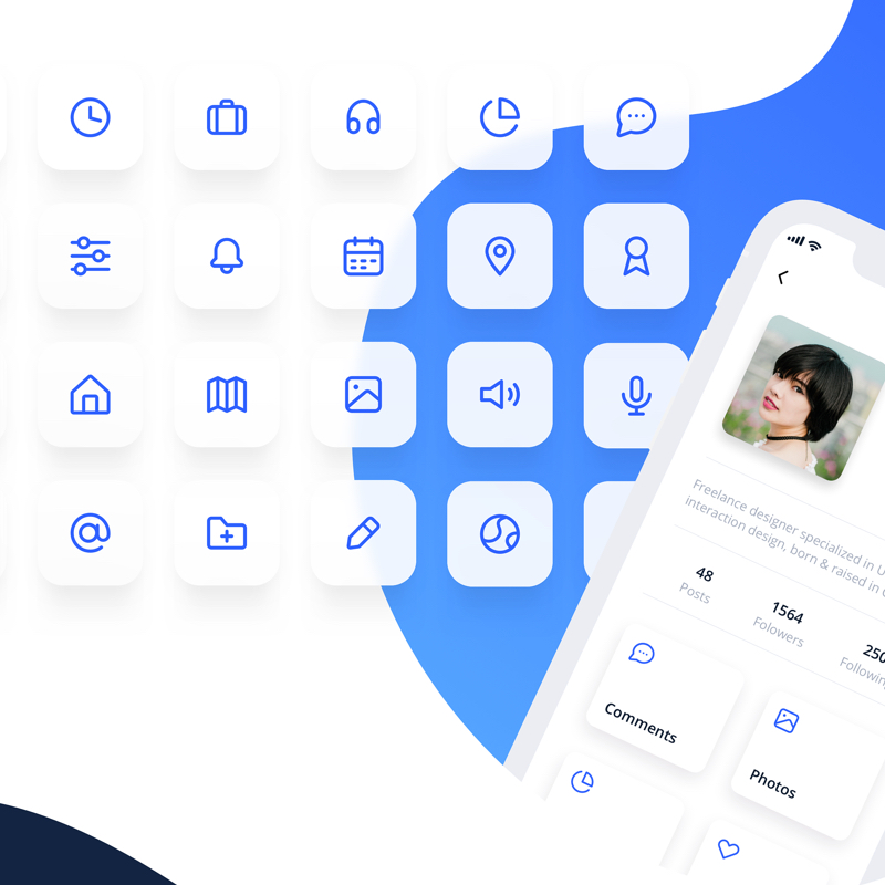 Eva Icons - Eva Icons is a pack of more than 480 beautifully crafted Open Source icons for common actions and items.