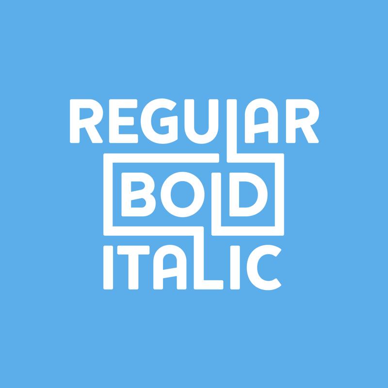 Regular Bold Italic -