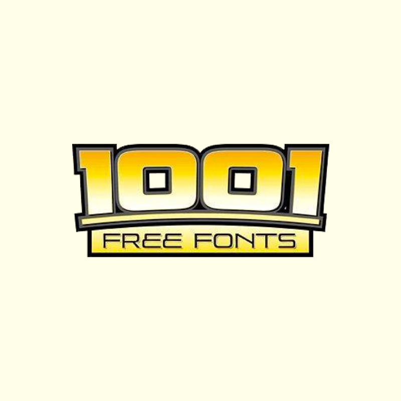 1001 Free Fonts -