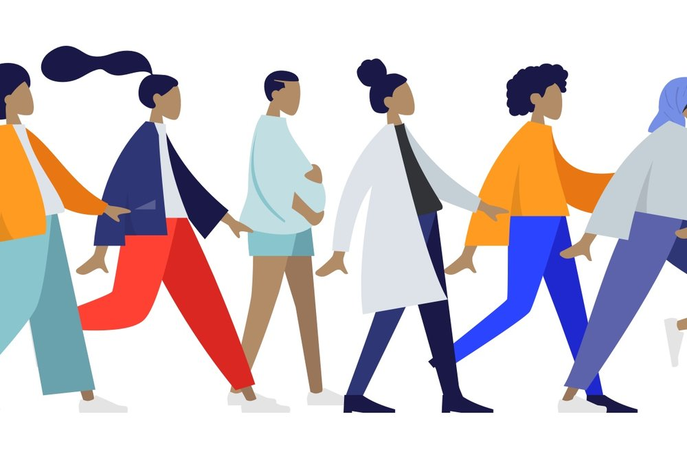 Humaaans - A beautifully designed free library to mix-&-match illustrations of people. You can customise their positions, clothing, colours, and hairstyle. You can add scenes and use the power of libraries to make it your own.