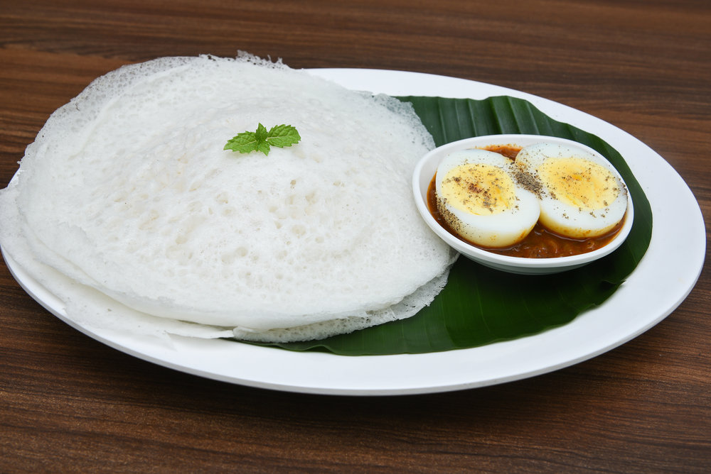 Aappam with egg curry