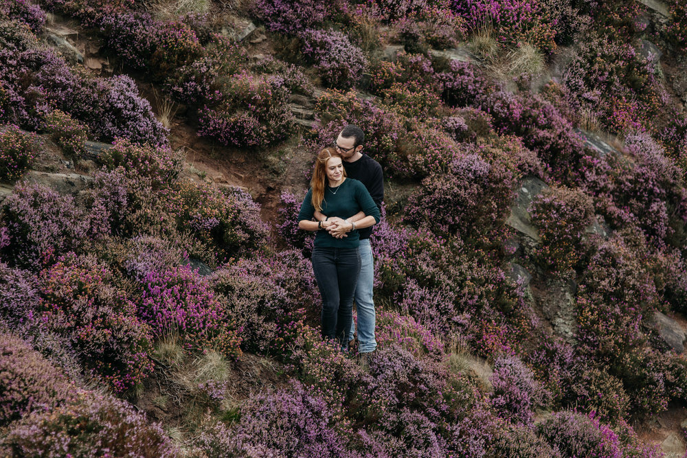 Sheffield Yorkshire Couples and Engagement Shoot Peak District