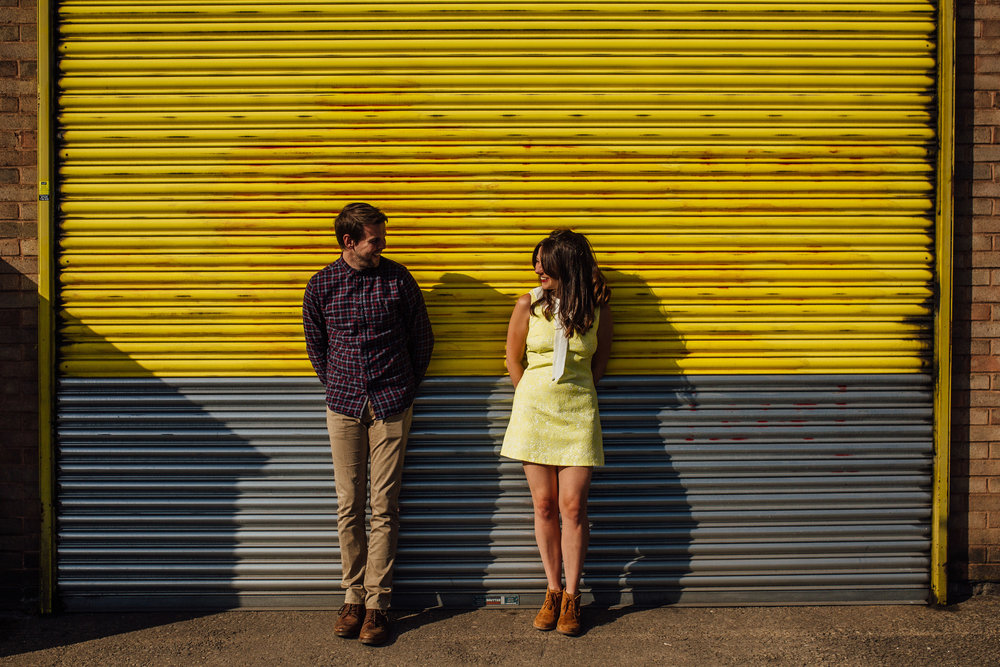 Sheffield Yorkshire Couples and Engagement Shoot Wes Anderson