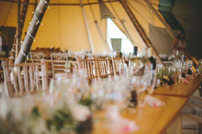 Sheffield Tipi Wedding Totley Hall Farm