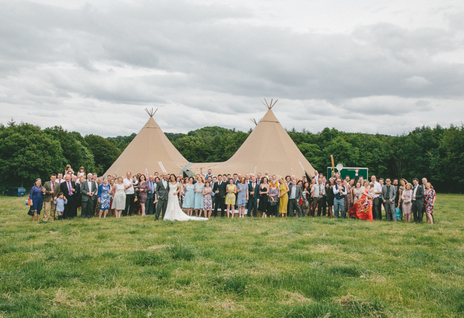 Sheffield Tipi Wedding Totley Hall Farm