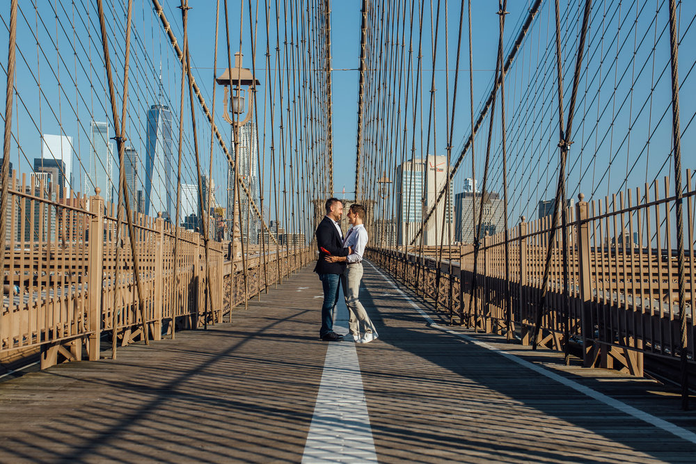 Brooklyn Heights New York Engagement Wedding Photographer