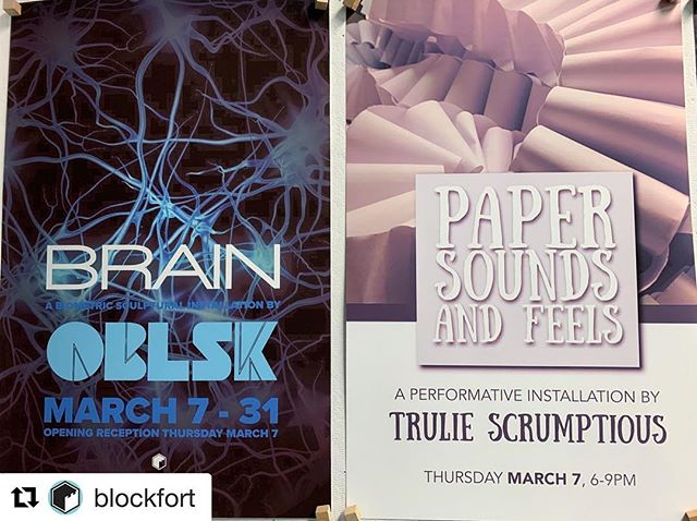 Looking for a fun Thursday night? Check out these new shows at @blockfort . Visit their page for more info. #columbusmakesart #asseenincolumbus #supportlocalartists
