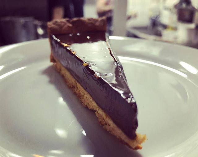 Chocolate and rum tart on the menu this week, it's a crowd pleaser #chocolate #pastry #rum #kingslandroad #newopening #neighbourhoodrestaurant #desserts