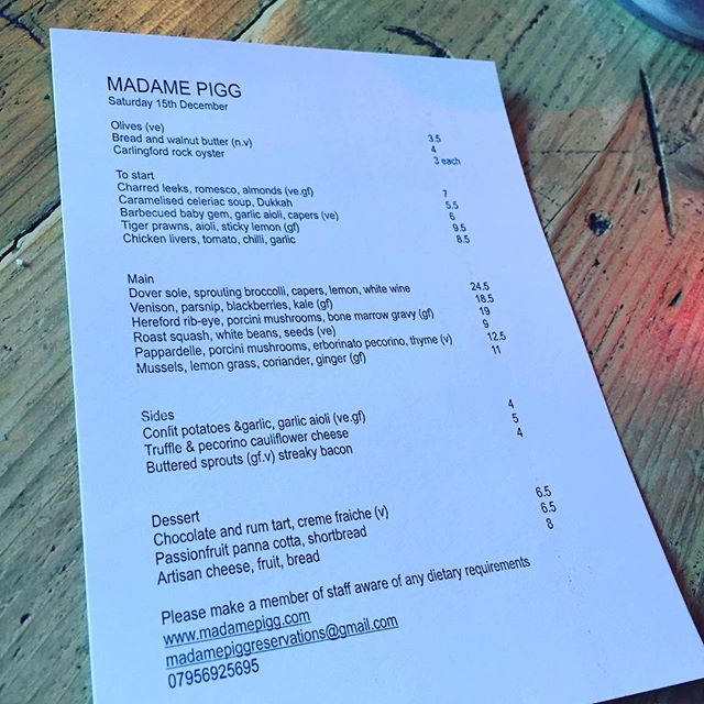 Today's menu open all day few tables left for tonight, make sure you book to get a table. It's all about the king of the sea Dover sole #fish #saturdaykitchen #newopenings #doversole #saturdaylunch #saturdaydinner #kingslandroad