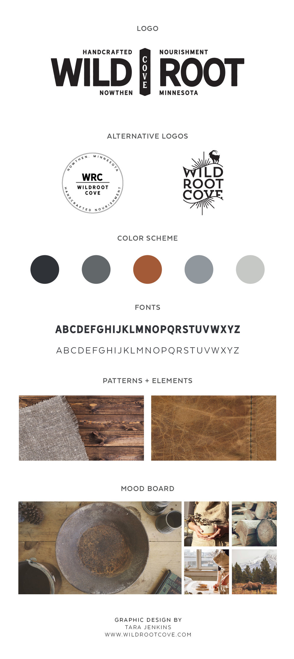 Click this image to view the full Wildroot Cove Branding Board