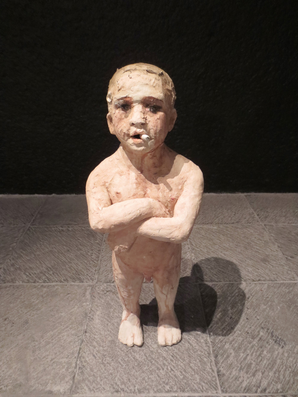 El Chingón, 2014, Stoneware, 32 x 12 x 8 in.