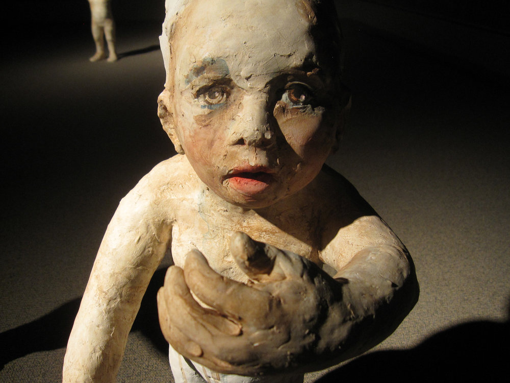 Falling, 2011, Painted ceramic, Museum of Nebraska Art, Kearney, Nebraska