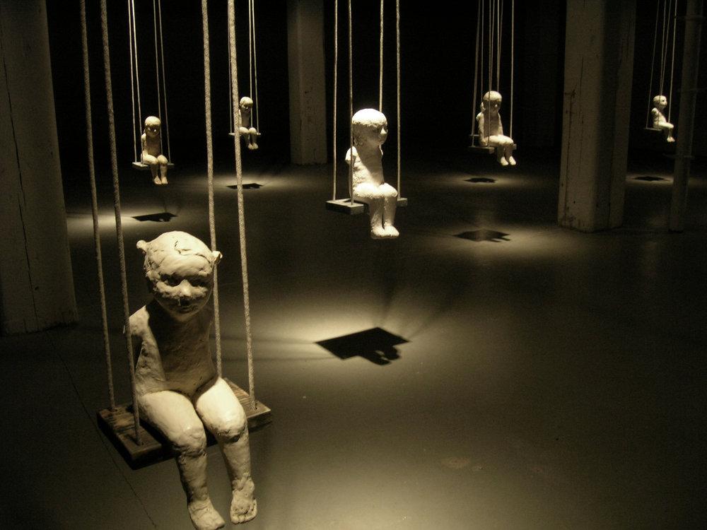 Falling Rope of Silence, 2005, Installation view, Bemis Center for Contemporary Art, Omaha, Nebraska