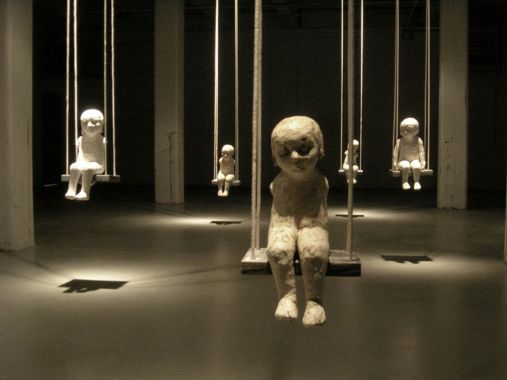 Falling Rope of Silence, 2005, Installation view, Bemis Center for Contemporary Art, Omaha, Nebraska