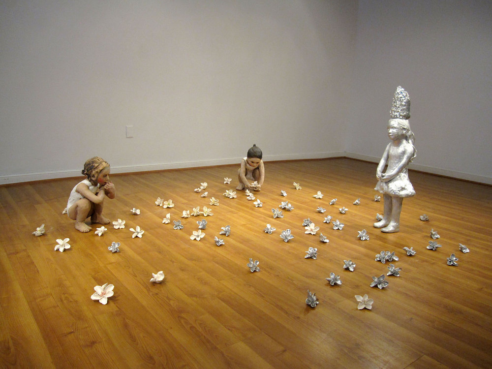 Flower Eaters, 2009, Ceramic, Floor Installation 41 in. X 20 ft. X 18 ft.