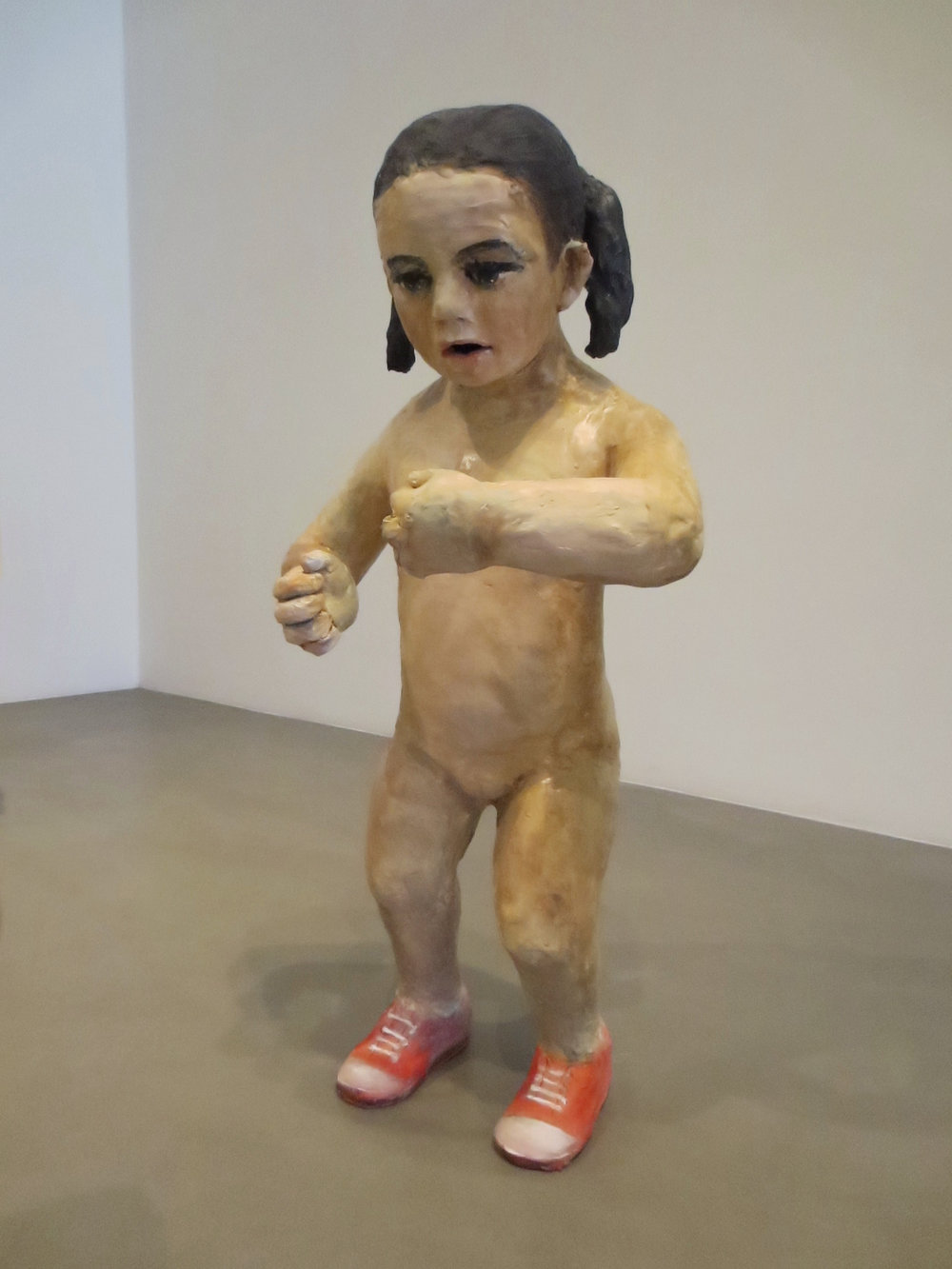 Pendiencia, (Bully 1), 2012, Glazed ceramic, 31 X 17 X 13 in.