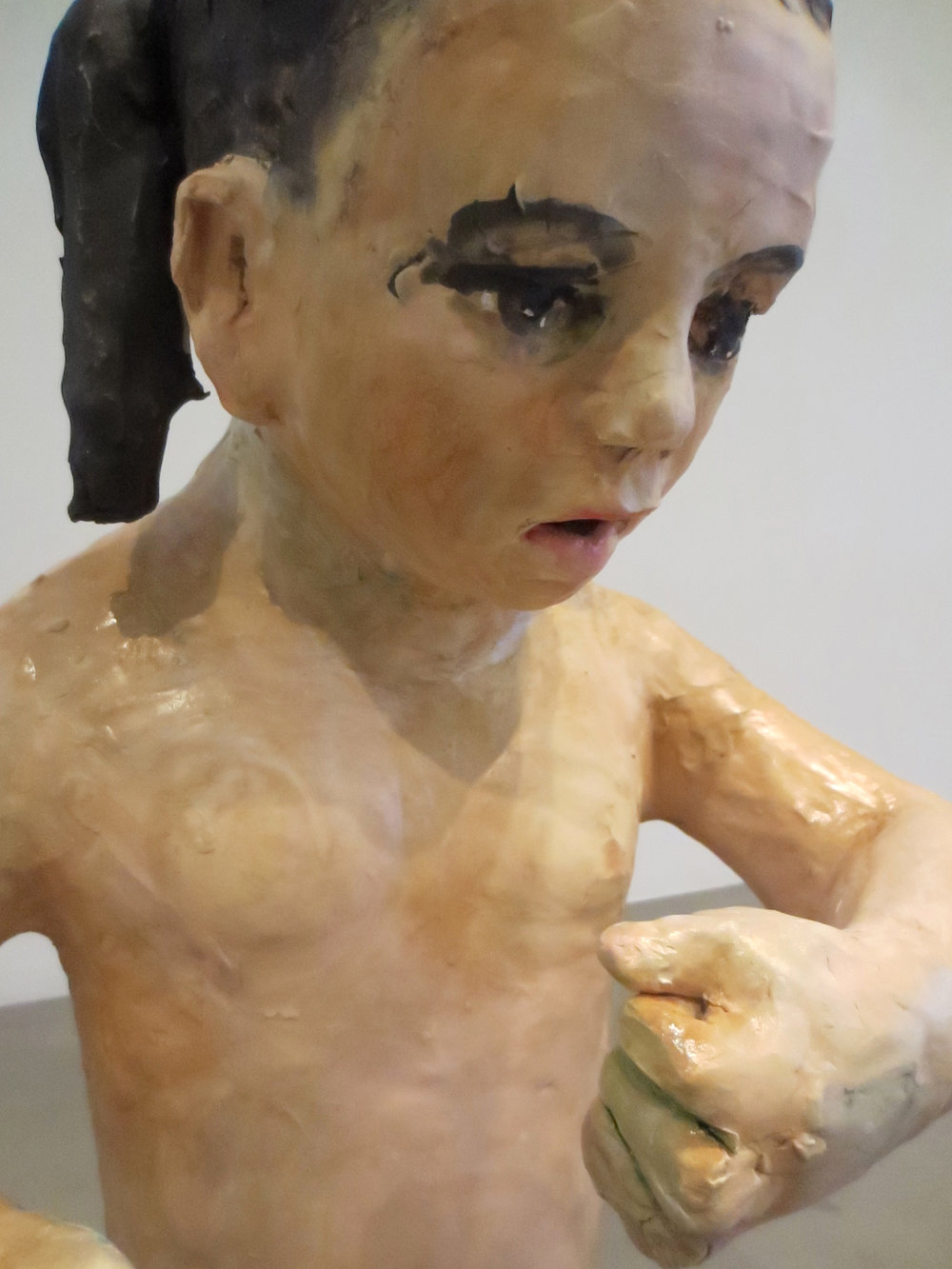 Pendiencia, (detail Bully 1), 2012, Glazed ceramic, 31 X 17 X 13 in.