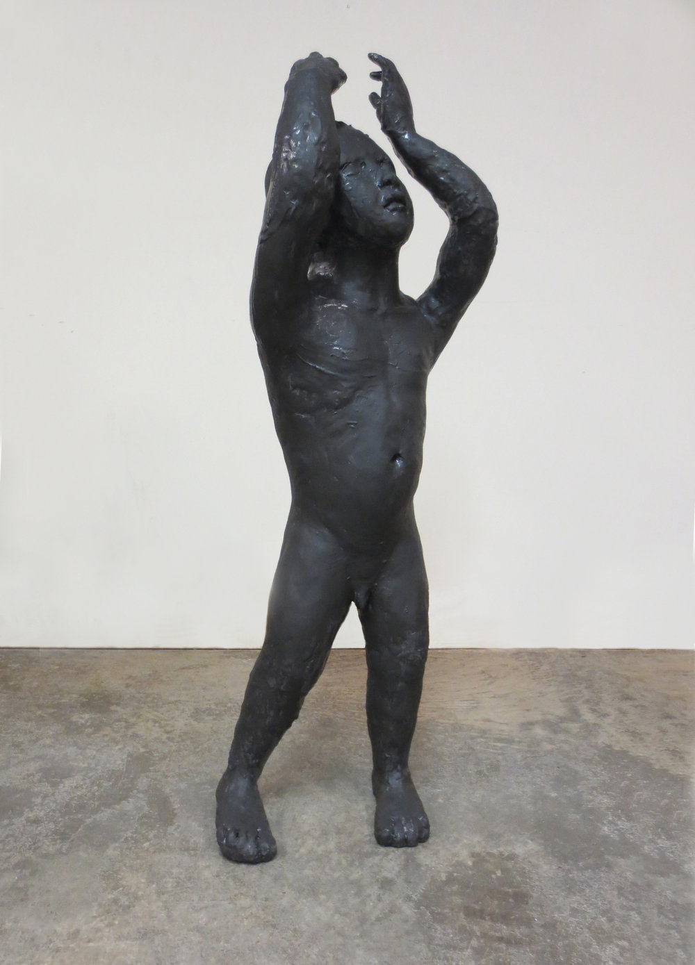 Orator 3, 2014, Stoneware, 43 x 15 x 11 in. Northern Clay Center, Minneapolis, Minnesota