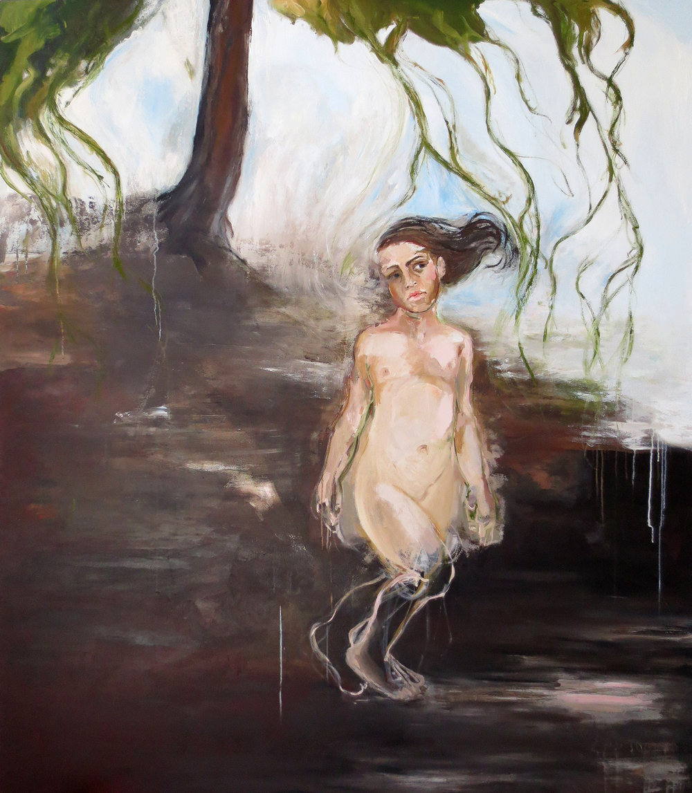 El Bosque, 2014, Oil on canvas, 76 x 67 in.
