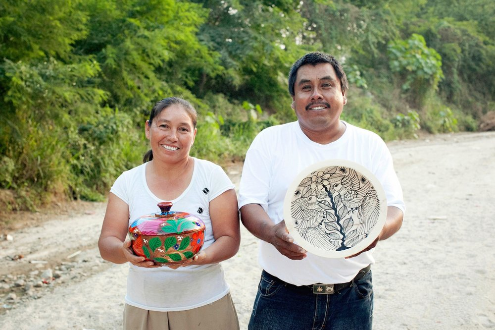 Francisco & Marina   Hand-painted pottery and figurines