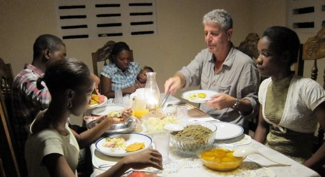The Travel Channel. Anthony Bourdain shares a family meal in Haiti