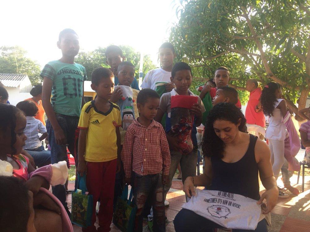 Mentee Arleen giving back in Colombia 5