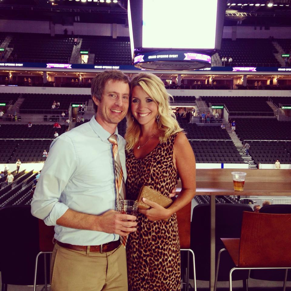 Keith and I at the opening party for one of his largest projects- a 12,000 seat event center.