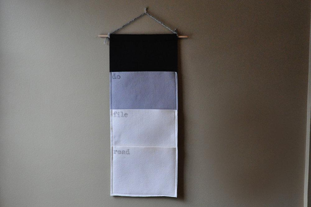 My DIY Felt Mail Organizer