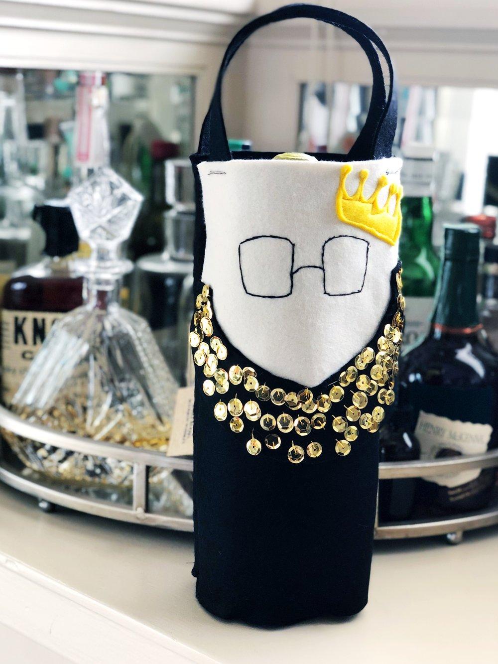 Ruth Bader Ginsburg Wine Tote