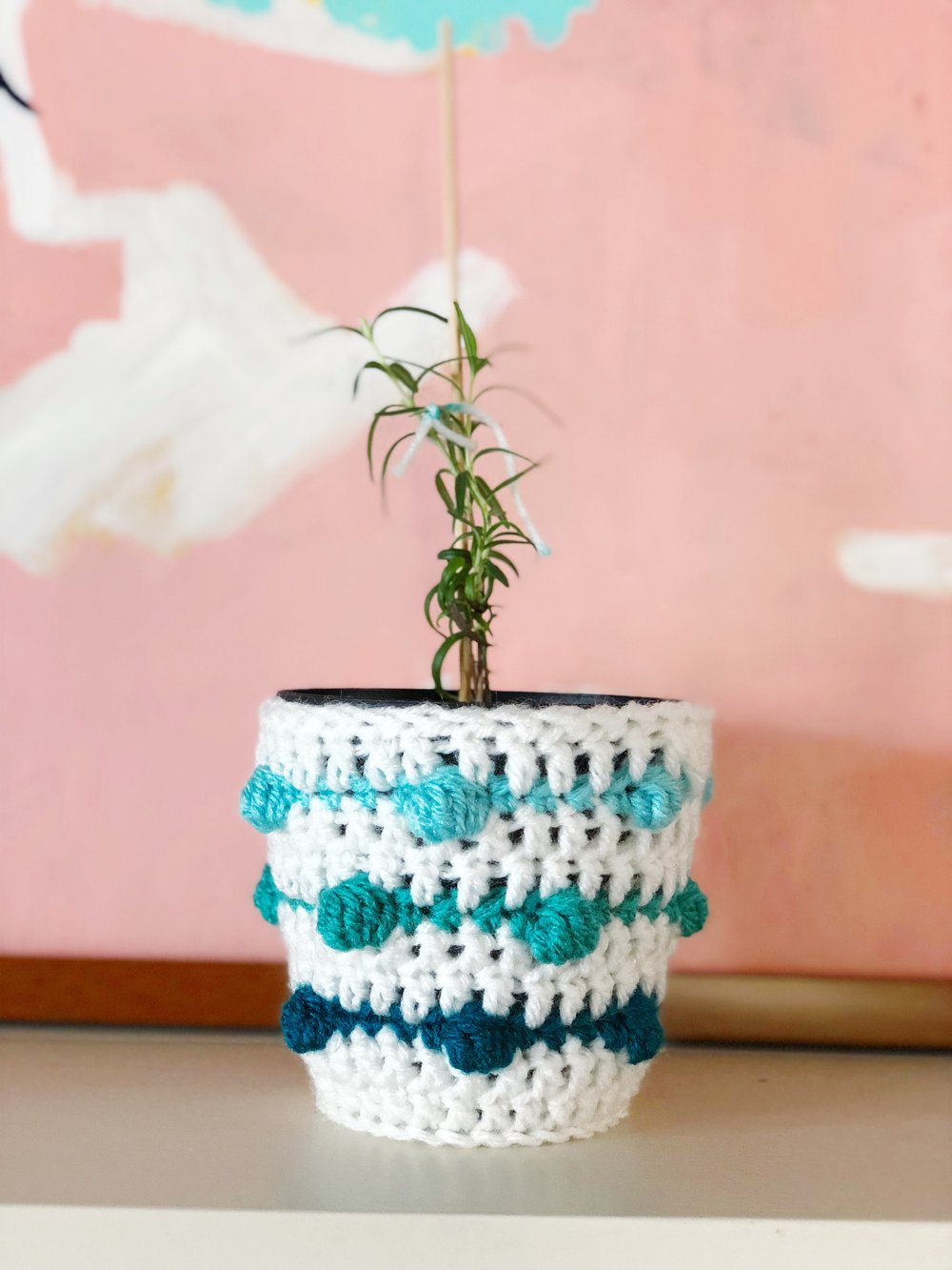 crochet plant cozy with gradient bubble stitch.jpg
