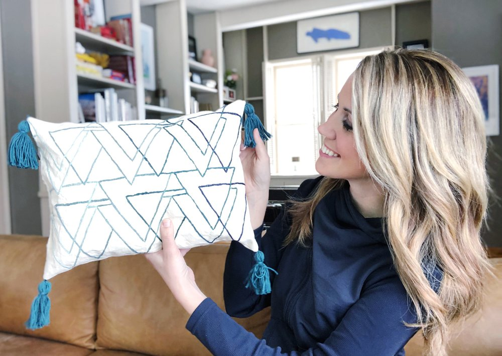 DIY Magnolia Market Embroidered Pillow